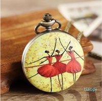 Новые кварцевые карманные часы с цветной печатной росписи стиль