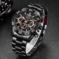 Hommes Montres Lige Marque Sport Hommes Chronographe Quartz Horloge Homme Casual Militaire Militaire Montre-Bracelet Relogio Masculino Montre-bracelet