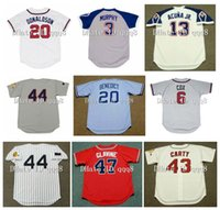 Vintage Atlanta Jersey 44 Hank Aaron 35 Phil Niekro 10 Chipper Jones 24 Deion Sanders 29 John Smoltz 3 Dale Murphy 5 Bob Horner 13 Ronald Acuna Jr. Retro baseball.