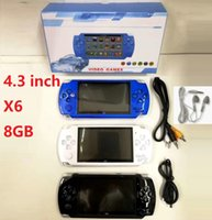 X6 Handheld Game Players 8GB Memory Portable Video Game Consoles 4.3 inch Support TF Card TV-OUT MP3 MP4 Player Good quality