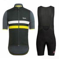 Rapha 사이클링 저지 세트 남자 자전거 셔츠 턱받이 반바지 짧은 소매 자전거 스포츠 유니폼 여름 경주 의류 운동복 326029