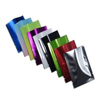 500pcs / lot Mylar Foil Bags aperta Top Heat Heat Sealeable Packing Buschetti Caramella Caffè Latte in polvere Polvere Aspirapolvere Aspirapolvere Foil Foil Foil Foil Foil 210724