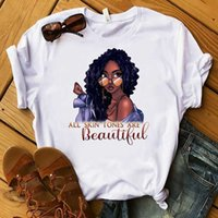 Summer Womens Designers T Shirt Simples Classic White Tee Africano Mulheres Dos Desenhos Animados Impresso Esportes Casuais Tops Plus Size Boutique Ladies Roupas G73K1Y8