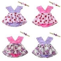 Summer Baby Girls Dress Mini Tutu Skirt Girl Toddler Diaper Cover With Bow Bowknot Hair Band Wrap Headband Set Infants Newborn Flower Dresses G50HV68
