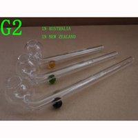 Avustralya'da 504 adet Yeni Zelanda Logo Cam Ile Sigara Borular Tüpler Yağ Burner Slingshot Kafatası Cam Pips G2