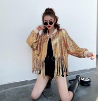 Women's Jackets European And American Fashion, Western Style, Temperament, Heavy Industry, Sequins, Tassels, Jacket