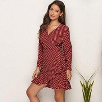 Casual Dresses 2021 Brand Womens Dress Sexy Polka Dot Flounced Irregular Women Woman Clothing For Female