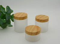 5oz 7oz 8oz Empty Frosted Plastic Jars Face Cream Bottle with Bamboo Cap and Inner Liners Refillable Cosmetic Lotions Emulsion Ointments Vials Makeup Storage Pot