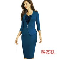 Women Dress Suits 2021 Spring Summer Formal Wear For Office Lady Work Bodycon Slim Female Pencil Fake Two Piece Set Outfit Dresses