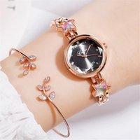 Wristwatches Bracelet Watches Women Luxury Analog Quartz Wristwatch Watch Romantic Designer Clock Simple Dress Gfit Relogio Feminino