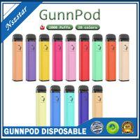 Xcelecia Gunnpod Einweg-E-Zigaretten 2000 Puffs 1250mAh Vorgefülltes Vape-Stift-Stick-Pod-Gerät 8ml