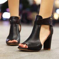 Новые 2020 Женщины Сандалии Сандалии на высоком каблуке Гладиатор Пряжки Сандалии Peep Toe Женщины Летняя Обувь Запатос Муджер Размер 34 43 Теннисная обувь Оксфорд Обувь из Specia W0CM #