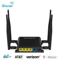 SIOSWI WE826-T2 Wifiルーター4G 3GモデムSIMカードスロットアクセスポイントOpenwrt 128MB 12V GSM LTE USB 1WAN 4LAN 210607