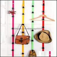 Storage Housekee Organization Home Gardenstorage Boxes & Bins Portable Hanging Strap With 8 Hooks Clothes Hat Bag Over Door Hanger Cabinet H