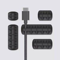 Akıllı Ev Kontrolü BCASK Kablo Organizatör Silikon USB Sarıcı Masaüstü Düzenli Yönetim Klipleri Tutucu Fare Kulaklık Tel Için