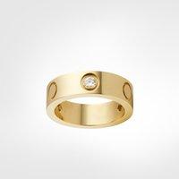 الحب اللولبية الدائري الكلاسيكية 3 الماس مصمم عصار حلقات مجوهرات فاخرة مجوهرات الرجال / النساء التيتانيوم الصلب سبيكة مطلية بالذهب كرافت الذهب والفضة ارتفع أبدا لا تضلل ليس حساسية