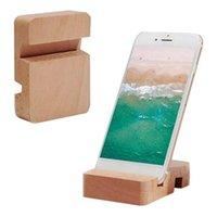 Titulares do telemóvel 1 pc Creative Creative Mobile Holder Stand Alta Qualidade Natural Madeira Universal Smartphone Smartphone Acessórios