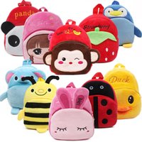 Fidget Toys Plush Toy cartoon animals backpack Stuffed Doll High-quality three-dimensional pp cotton Short plushs Christmas Gift Cute animal surprise wholesale
