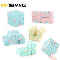 Infinity Cube Candy Color Fidget Puzzle Anti Decompressione Giocattolo Finger Mano Vinners Divertimento Giocattoli per Adulti Bambini ADHD ADHD Stress Regalo con pacchetto