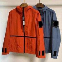 Мужчины Воздушный куртку с капюшоном ветровка молния толстовки лоскутное куртки камень бегущий спортивный толстовка Jogger повседневная островное пальто 017