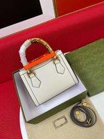 Com Bo 2021 Moda Mulheres Designer Bolsa Top Quality Bamboo Saco Verde Paniador Lidar com Senhoras Cruz Senhoras Diana Mini Sacolas