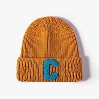 Beanies LDSLYJR 2021 Autumn And Winter Acrylic Letter Thicken Knitted Hat Warm Skullies Cap Beanie For Men Women 54