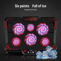 Fans & Coolings 17inch Gaming Laptop Cooler Six Fan Led Screen Two USB Port 2600RPM Cooling Pad Notebook Stand For