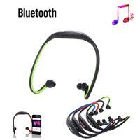 Trådlös Sport Bluetooth 3.0 Hörlurstelefon Stereo Hörlur Headset för iPhone 6 Samsung Galaxy IOS / Android med mikrofon USB-kabel