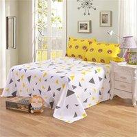 시트 세트 패션 컬러 고품질 1 피스 침대 시트 많은 평면 고급 침대 시트 23 다른 색상 침구