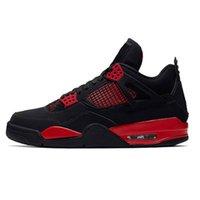 Basketball Shoes Jumpman 4s Red Thunder Desert Moss Taupe Haze Black Cat Metallic Pack Women Men Outdoor Casual Fashion Sports Sneakers