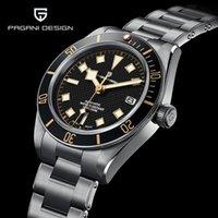 Siyah Bay Retro Mekanik İzle Erkekler Için Otomatik Bilek Su Geçirmez NH35A Reloj Hombre Saatı