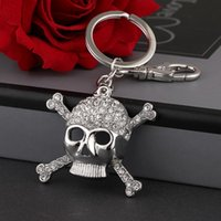 Keychains 2021 Tinykenro Fashion strass gothique sans eyeless pirate sac de crâne portefeuille porte-clés