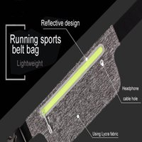 Cycling Bags Ultra Thin Waist Bag Men Women Sports Running Gym Belt Pack Refeltive Strap Smart Phone For IPhone Samsung EEMIA