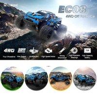 CARYINE EC08 RC CAR 4WD 1/18 2.4GH 38 км / ч Супер мощность высокоскоростных грузовиков внедорожных грузовиков с дифференциальными игрушками для детей 210322