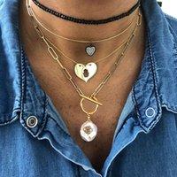 Anhänger Französisch Stil Edelstahl O-Kette, vielseitig und luxuriöse barocken natürliche Süßwasserperlen-Diamant-Anhänger-Halskette