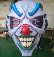 Hanging Horrific Fear Of Clown Inflatable Head for Bar/Club/Party Halloween Skull Monster Devil Death Decoration