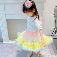TUTU платье Летние Детские ня Средние и маленькие девочки Мороженое Rainbow Puft TUTU MH Принсы полую
