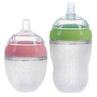 4 스타일 아기 병 신생 넓은 구경 핸들 핸들 아기 용품과 함께 실리콘 병 아기 공급 도구