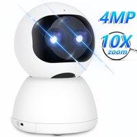 Smart Security IP-камера 10x Цифровой зум 4MP HD PTZ Home WiFi Авто отслеживание Baby Monitor Starlight Night Vision 210618