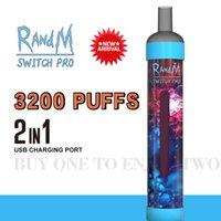Original Fumot RandM switch pro 3200puffs disposable cigarette 2 in 1 vapes