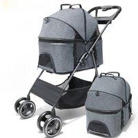 Cubiertas de asiento de coche para perros PET CALIENTE CALIENTRE Portador Bolsa Plegable Nacido Bebé Pull Carrito Transportador de cuatro ruedas Viajes