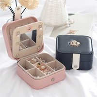 Design Jewelry Organizer Box Display Holder Case Ring Earring Necklace Storage for Women 211014