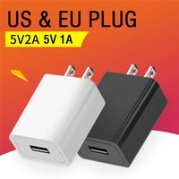 High Speed 5V 1A 2A Eu US AC Home Travel Wall Charger Power Adapters For Iphone 7 8 11 12 Samsung s10 s20 htc android phone pc mp3