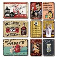 Nostalgique Whisky Bar Metal Tin Signe Vintage Cafe à chaud Chaude Plaque Personnalité Personnalité Cafe Bar Cuisine Décor Plaque Plates de mur Q0723