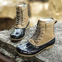 Boots 2021 Women Snow Winter Keep Warm Lady Duck Waterproof Non-Slip Rubber Rain Shoes Female Fashion Casual