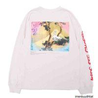 Fashion Hip Hop p Kanye West Kids See Ghosts T-shirt Men Women Pullover Long Sleeve Shirt Murakami Takashi Watercolor Printing Tee
