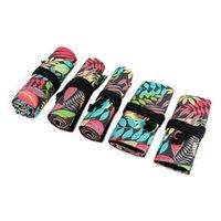Pencil Bags Tree Leaf 12 24 36 48 72 Holes Canvas Roll Pen Curtain Bag Case Makeup Q6PA
