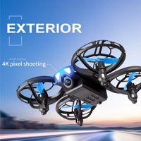 V8 mini drone 4k 1080p HD RC Quadcopter WiFi FPV Drones Presión de aire Altitude Hold Black RC Helicopter UAV Aircraft Toy para niños 210325