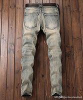 Mens 2021 New luxury Designer Biker Slim Fit High Waisted Diesel Jeans