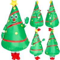 Christmas Decorations Walking Tree Cosplay Green Inflatable Clothing Santa Claus Dress Up Year Party GH1200